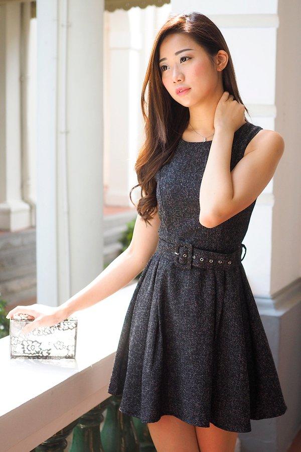 MADEBY3INUTE - Brooklyn Tweed Dress in Black [XS/S]