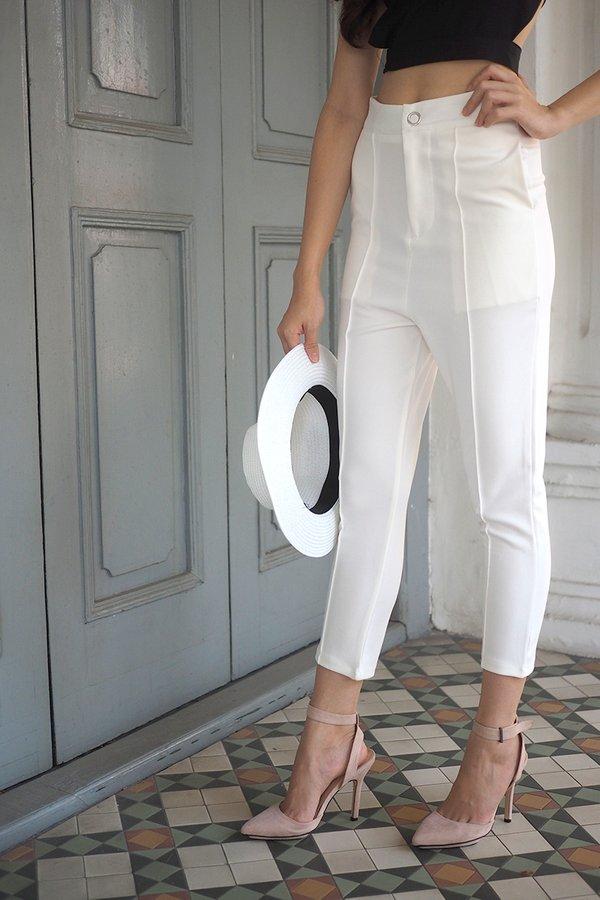 Sarina Cuffed Pants in White
