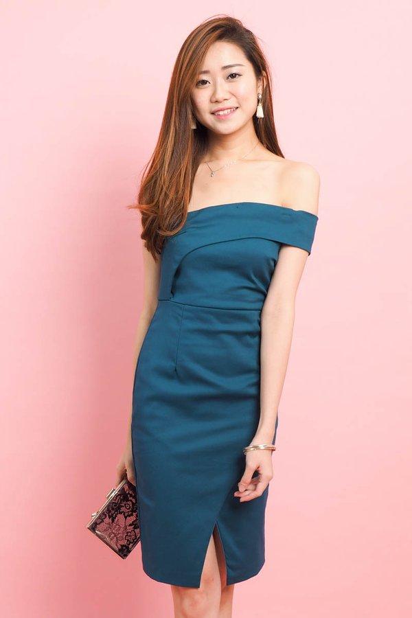 Eleanor Toga Fit Dress in Emerald [S]