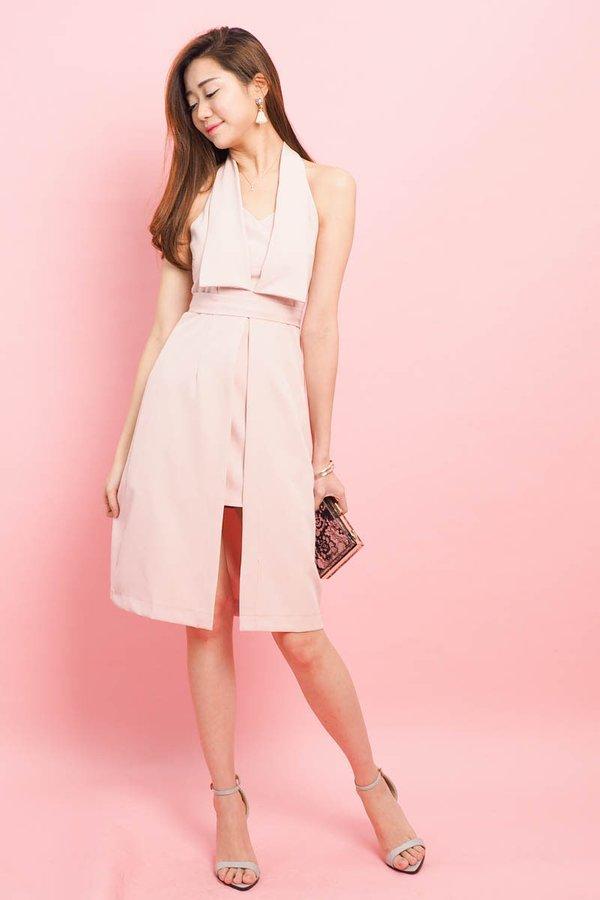 Hedda Halter Dress in Pink