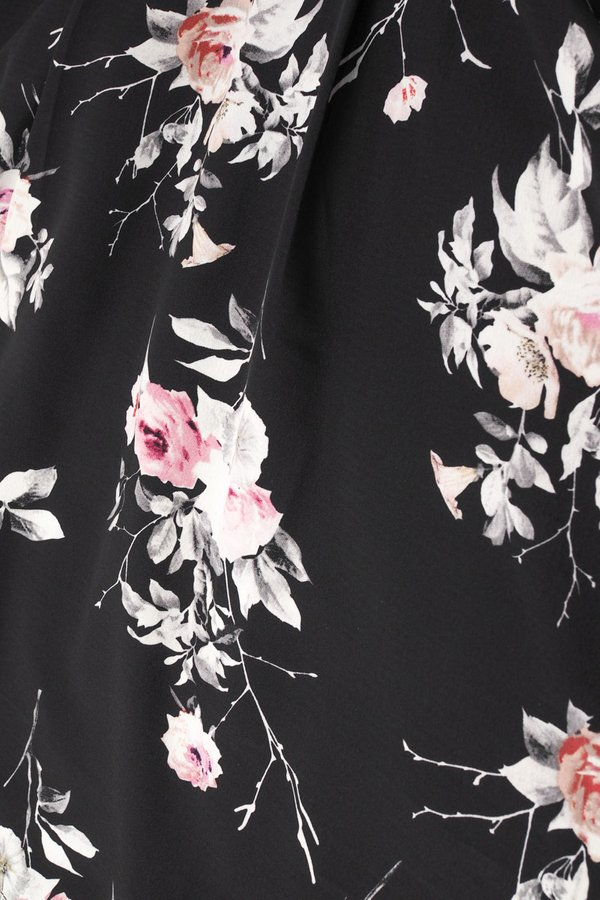 Arianna Floral Dress in Black [XS]