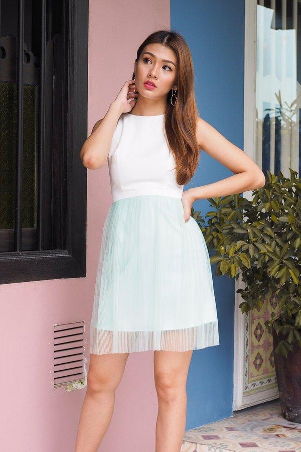 Cheyenne Blissful Tulle Dress in White