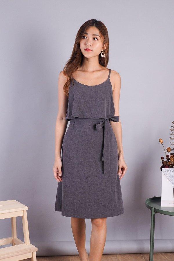 Lexi Faux 2 piece Dress in Grey