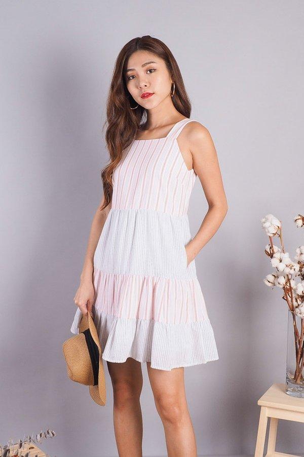 Kass Tier Babydoll Dress in Pink [L]