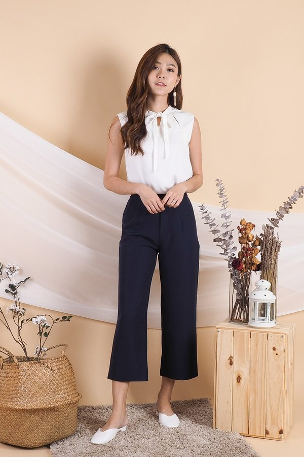 Fuyu Culottes Work Pants in Navy [M]