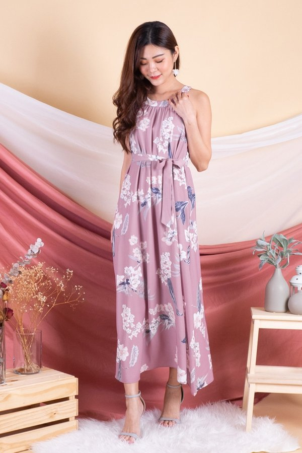 Phyllis Floral Maxi Dress in Dust Rose [L]