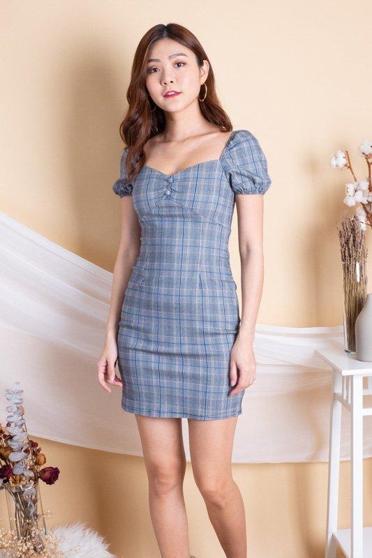 Paley 2-Way Checkered Dress in Dark