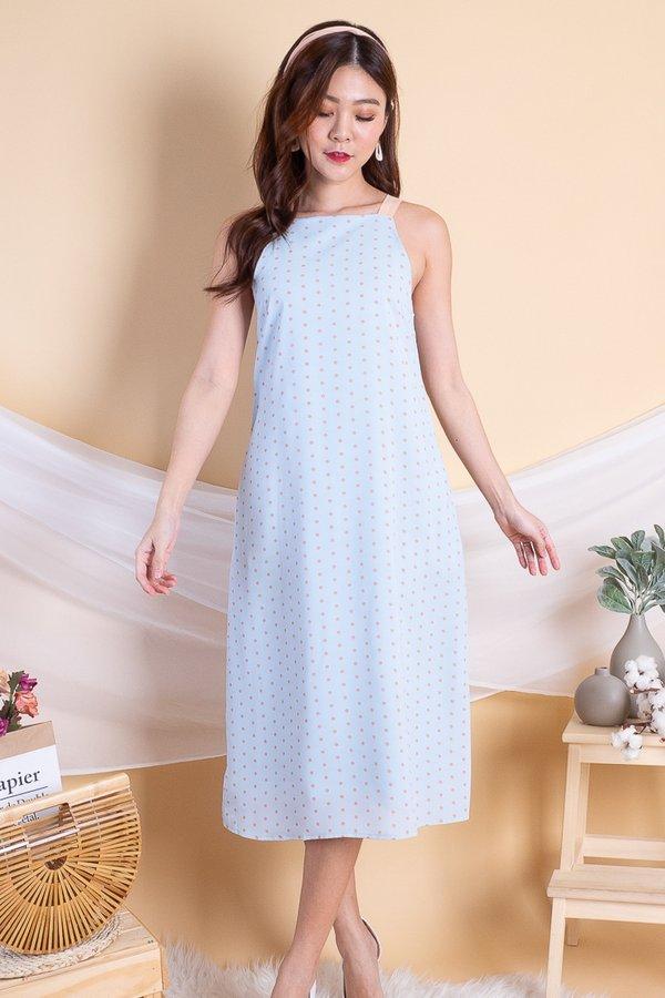 Edrea Tea Time Swing Midi Dress in Powder Blue