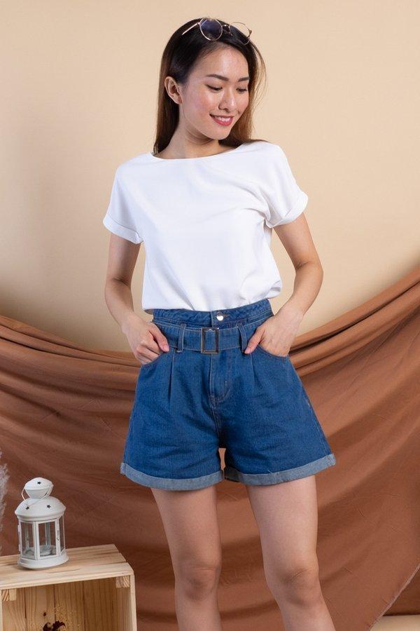 Sango Denim Shorts in Dark Wash