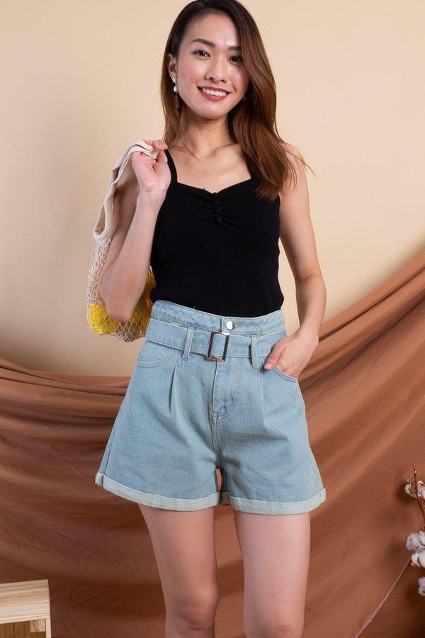 Sango Denim Shorts in Light Wash