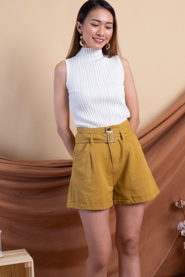 Sango Denim Shorts in Mustard [XS/S]