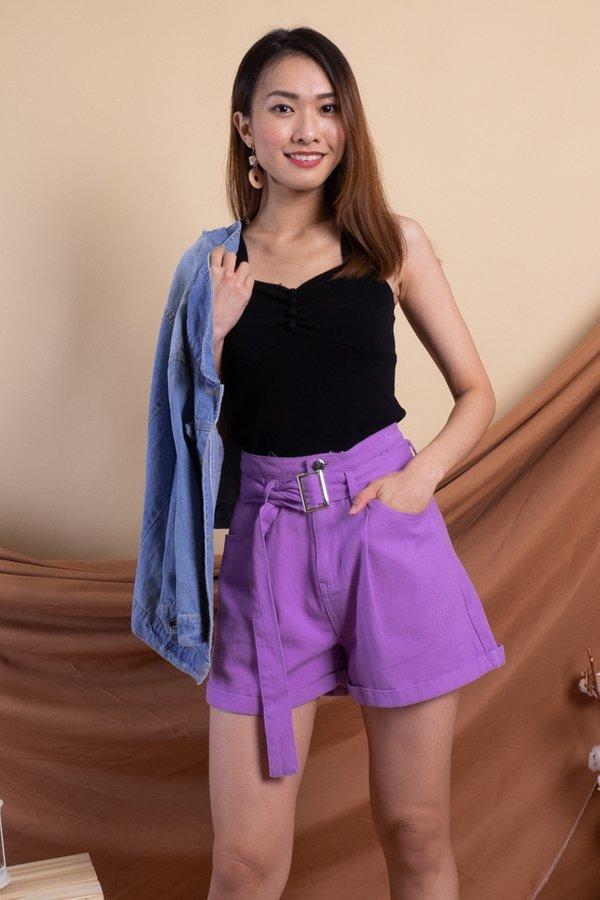 Sango Denim Shorts in Purple [XS/S]