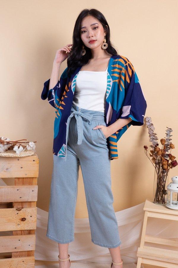 Makiyo Reversible Kimono Outerwear in Midnight Dusk/Navy