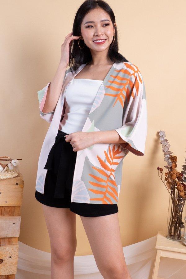 Makiyo Reversible Kimono Outerwear in Morning Sunshine/Pink
