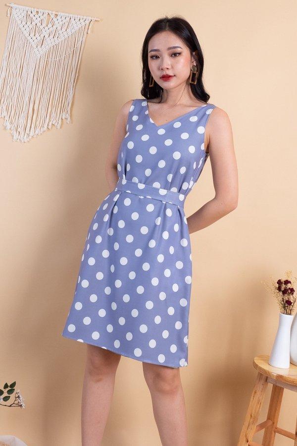 Janasha 4 Way Reversible Dress in Lilac Polka/Sage