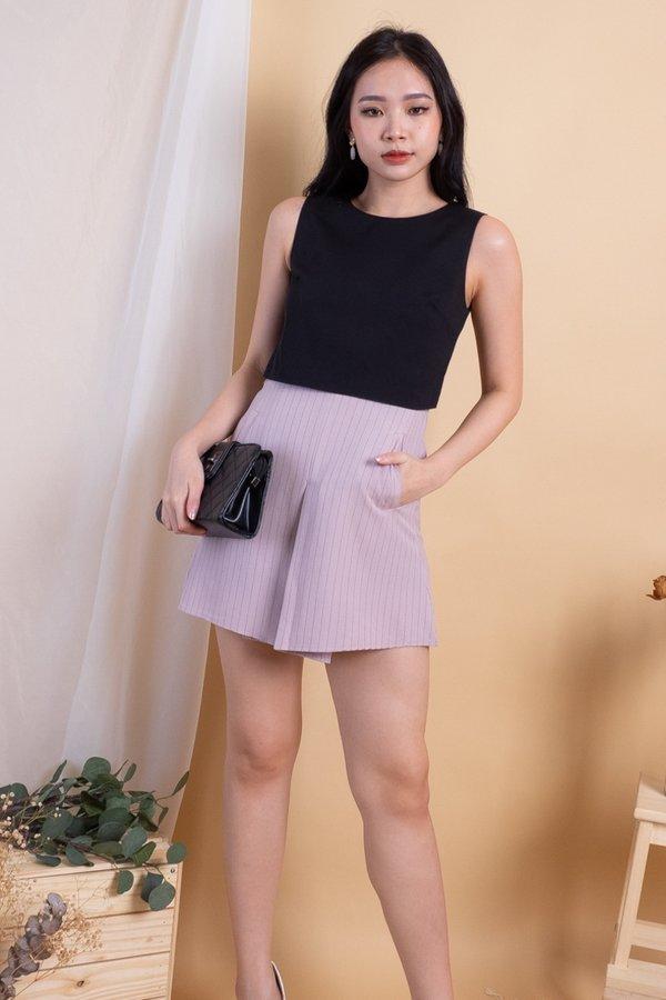Jesebelle Double Pockets Romper Dress in Black [L]