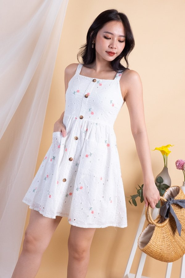 Malissa Eyelet Embroidery Dress in Pink [XS]