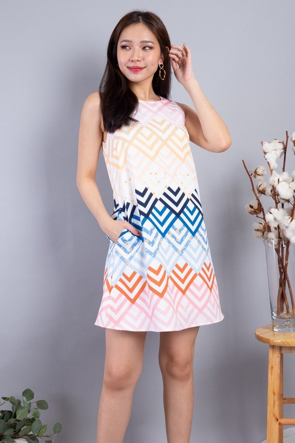 Perry Trapeze Shift Dress in Light