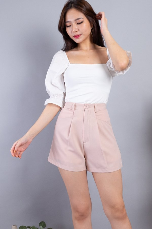 Dustin Button Shorts in Pale Pink