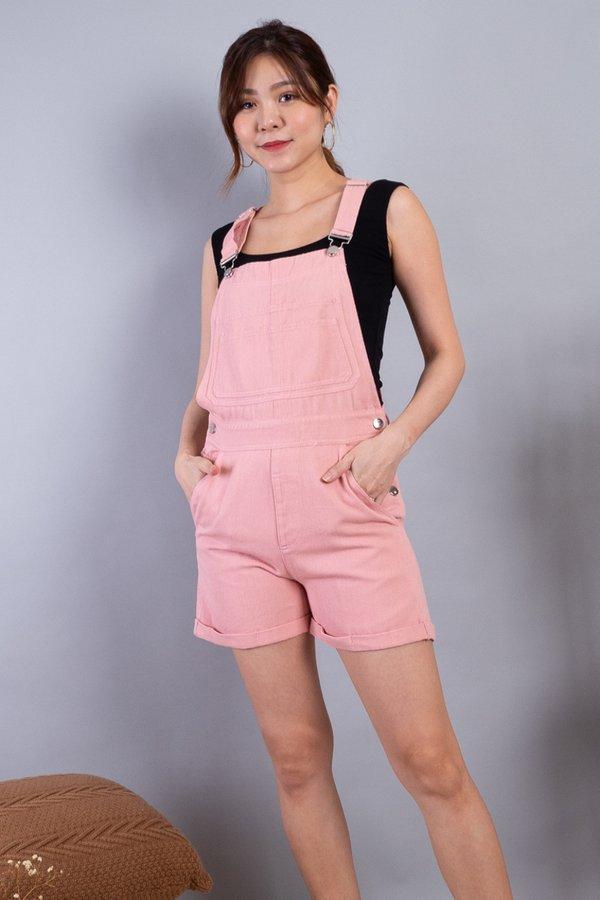 Mia Denim Dungaree in Pink