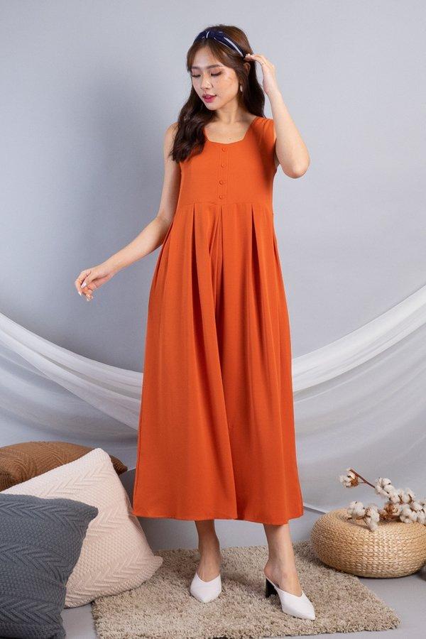 Dezie Wide Leg Jumpsuit in Orange [M]