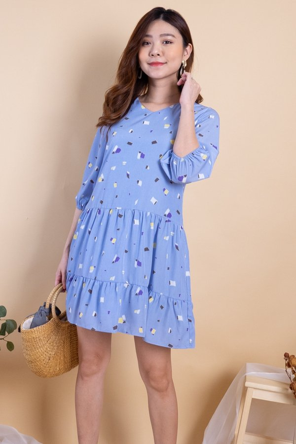 Hova Duo-Tiered Play Dress in Sky Prints