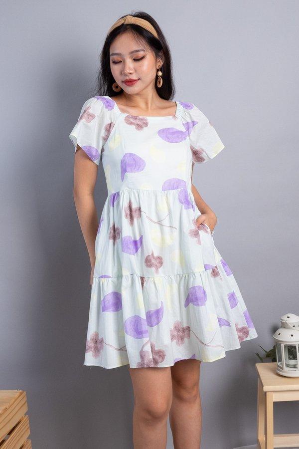 Maeva 2-Way Ruffled Tier Dress in Mint