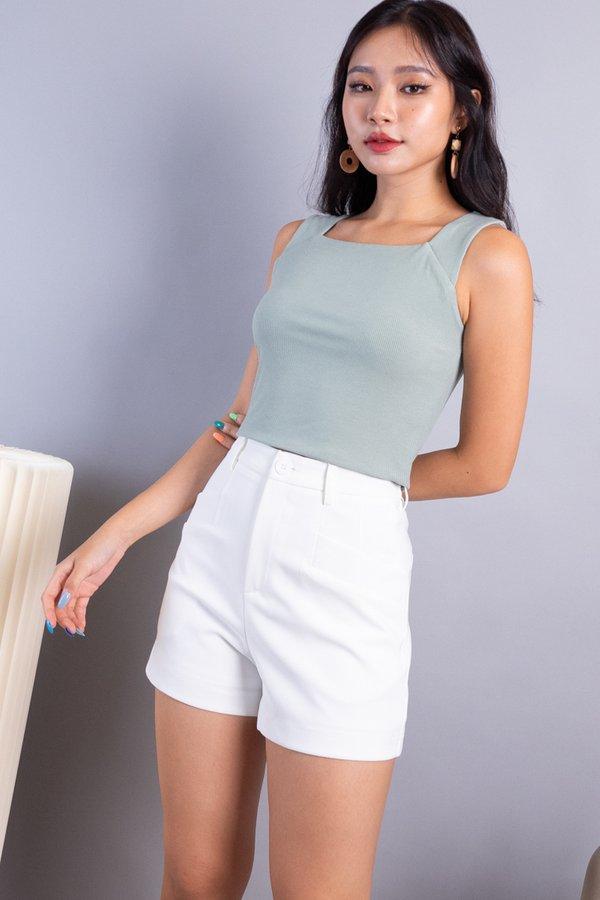 Kaden Double Pockets Shorts in White