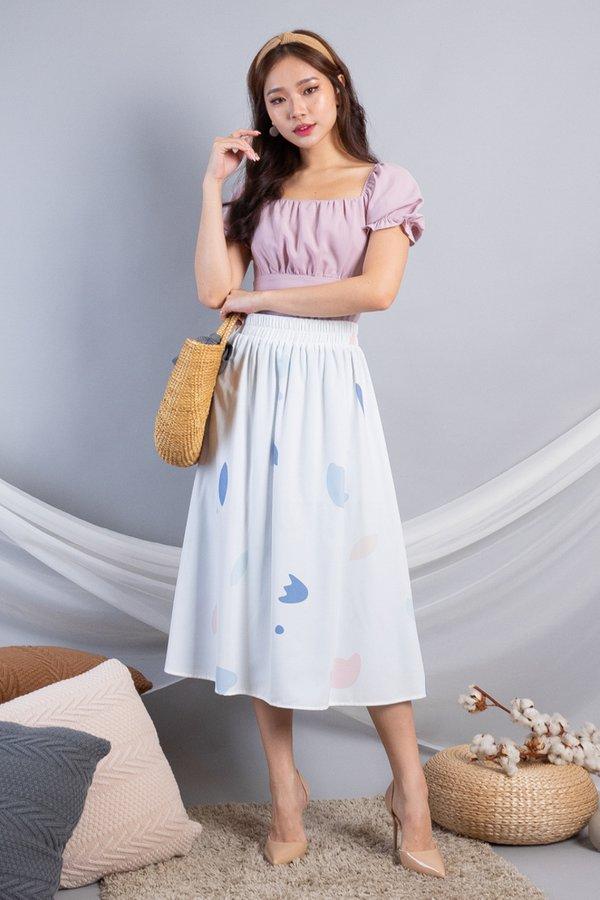 Benella Reversible Skirt in White/Blue