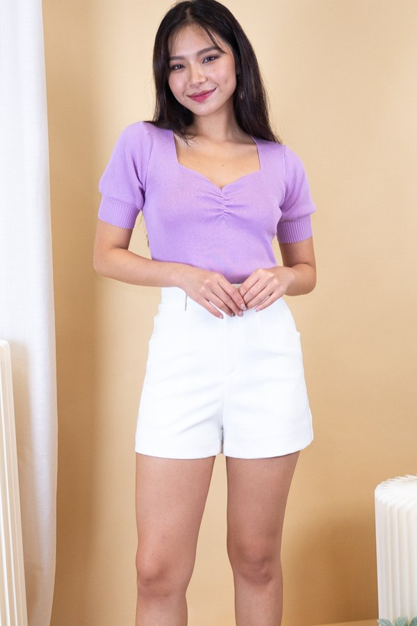 Nami Knit Top in Lilac