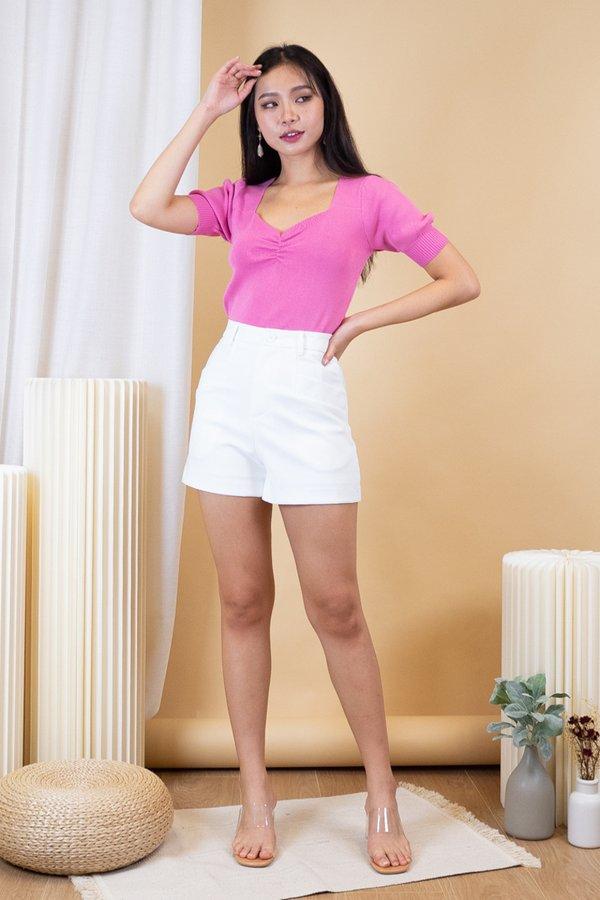Nami Knit Top in Barbie Pink