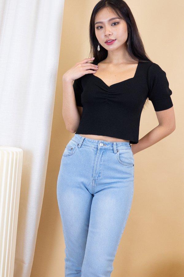 Nami Knit Top in Black