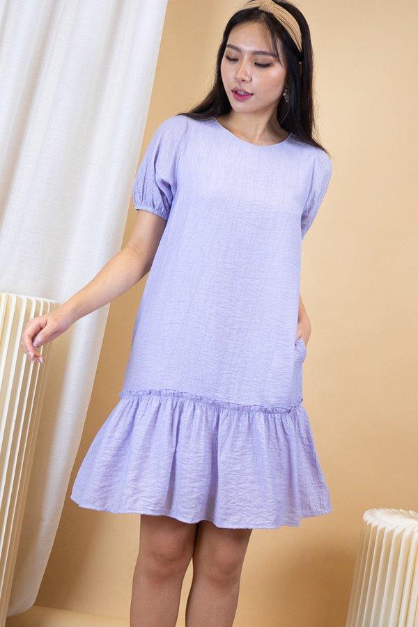Ridley Crepe Drophem Dress in Lilac